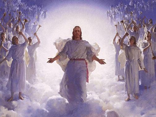 [Drawing of Christ's Return]