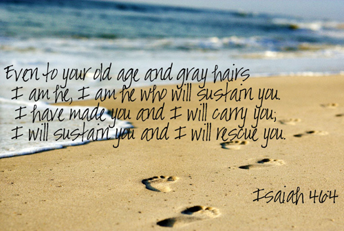 [Photo of a beach with a Scripture verse superimposed]