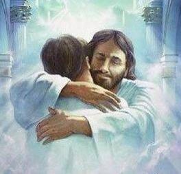 [Photo of Jesus giving a hug]