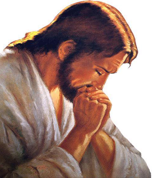 [Drawing of Jesus praying]