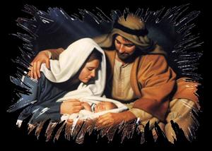 Mary, Joseph, and Baby Jesus