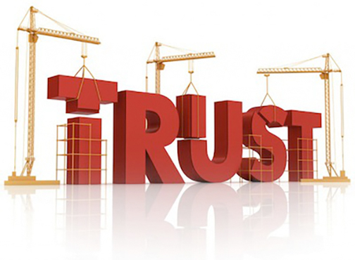 [Graphic of a construction site around the word TRUST]