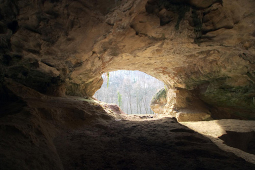 [Photo of the inside of a cave