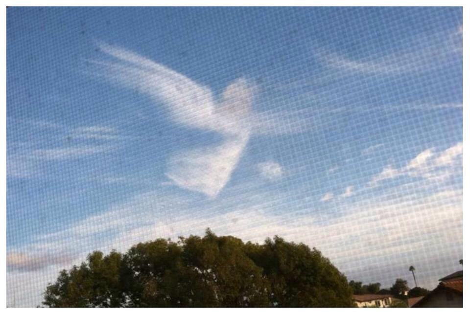 [Photo of a cloud that looks like an angel]