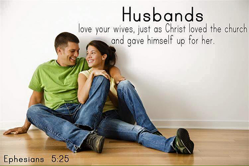 [Photo of a young married couple with words superimposed]