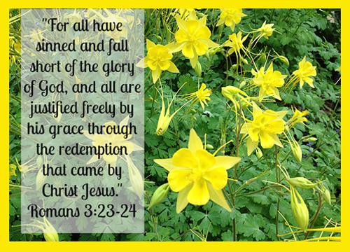 [Photo of a Scripture verse]