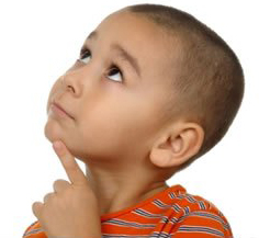 Questioning Child facing left